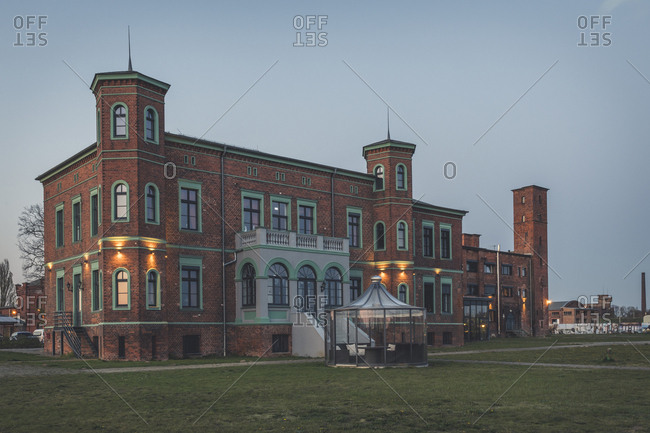 April 18, 2019: Historical oil mill at dsuk- Wittenberge- Brandenburg- Germany