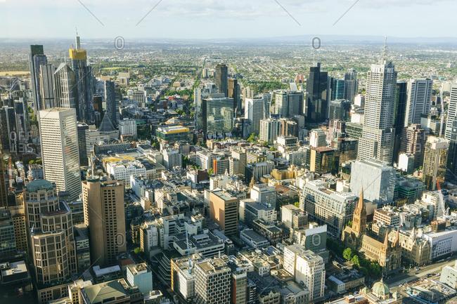 November 15, 2018: Cityscape of Melbourne- Victoria- Australia