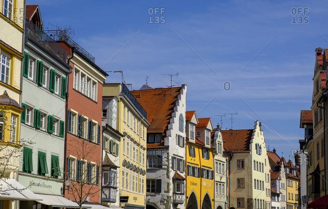 March 30, 2019: Maximilianstrasse- Lindau- Lake Constance- Bavaria- Germany