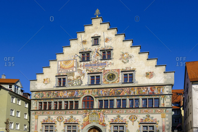 March 30, 2019: Old townhall- Lindau- Lake Constance- Bavaria- Germany