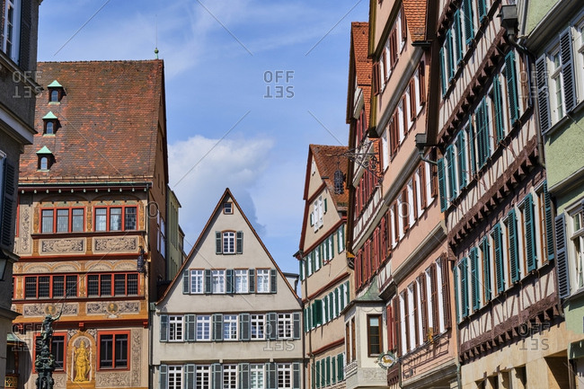 May 7, 2019: Houses in the old town- Tuebingen- Baden-Wuerttemberg- Germany