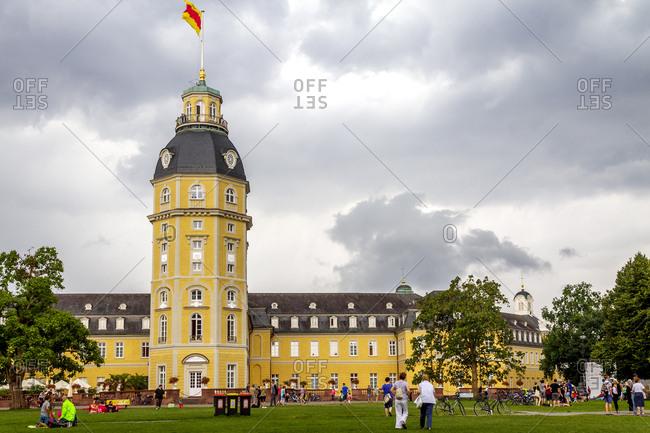 July 8, 2019: Karlsruhe Palace- Karlsruhe- Germany