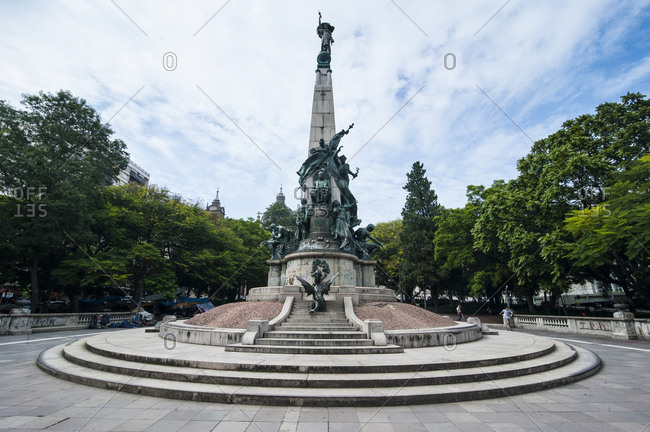 February 1, 2011: Statue on a square before the Catholic cathedral in Porto Alegre- Rio Grande do Sul- Brazil