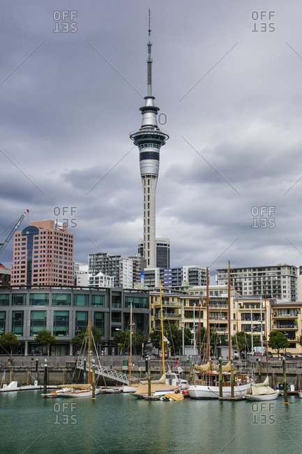 April 6, 2012: Downtown Auckland with the Sky Tower- New Zealand
