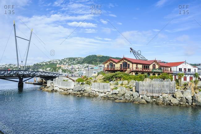April 2, 2011: Waterfront around Lambton harbor- Wellington- North Island- New Zealand