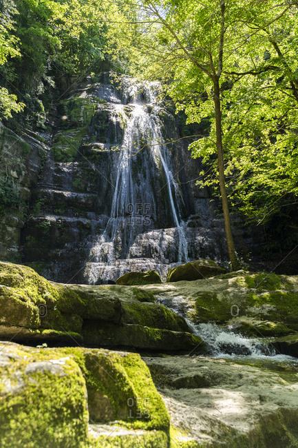 Idyllic waterfall- Garrotxa- Spain