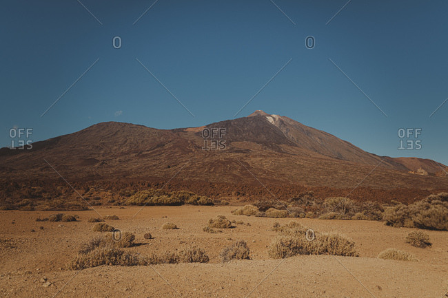 View to Teide Volcano- Caldera de las Canadas- Tenerife- Spain