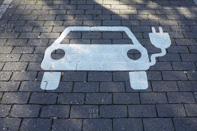 Car park for electric vehicle- electric vehicle charging station