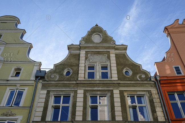 Germany- Stralsund- facade of historic gable house