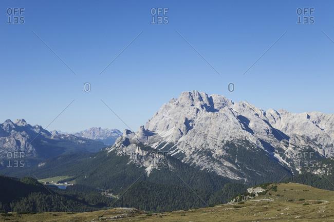 Misurina Lake- Tre Cime di Lavaredo Area- Nature Park Tre Cime- Unesco World Heritage Natural Site- Sexten Dolomites- Italy