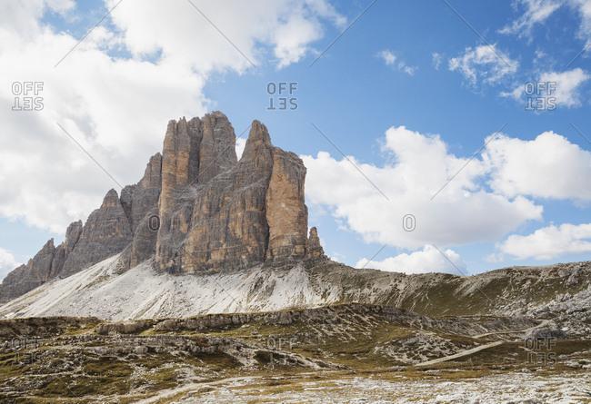 Tre Cime di Lavaredo- Nature Park Tre Cime- Unesco World Heritage Natural Site- Sexten Dolomites- Italy