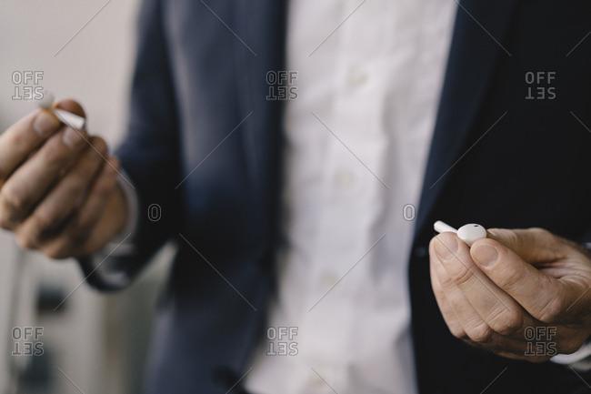 Mature businessman in a cafe