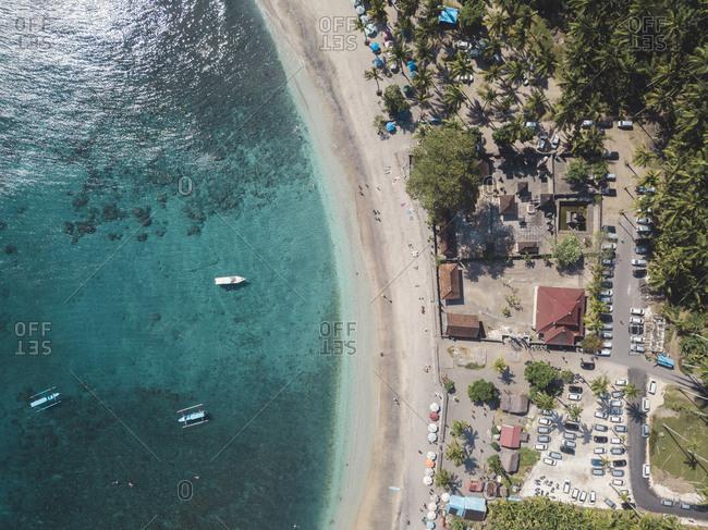 Aerial view of Crystal Bay- Nusa Penida Island- Bali- Indonesia