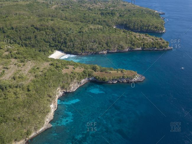 Aerial view of Crystal Bay Area- Nusa Penida Island- Bali- Indonesia