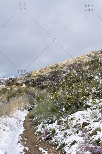 Snow at Way of St. James- near Cruz de Ferro- Spain