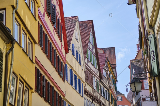 Row of houses in the old town- Tuebingen- Baden-Wuerttemberg- Germany