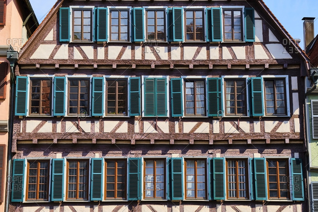 Timber-framed house in the old town- Tuebingen- Baden-Wuerttemberg- Germany