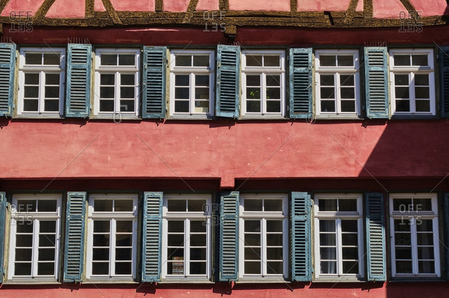 Historical house in the old town- Tuebingen- Baden-Wuerttemberg- Germany