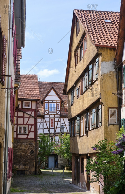 Timber-framed houses in the old town- Tuebingen- Baden-Wuerttemberg- Germany