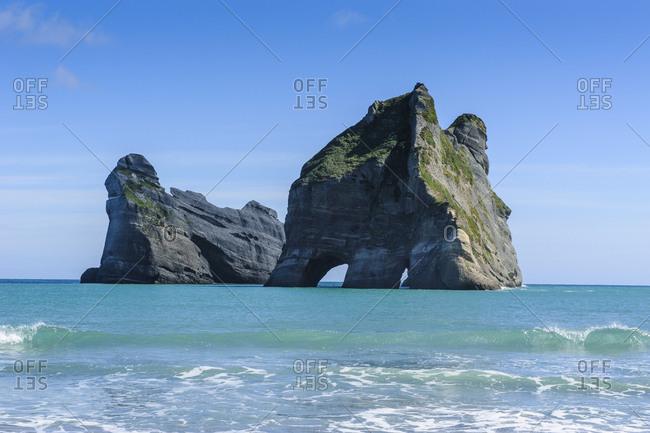 Archway islands- Wharariki Beach- South Island- New Zealand