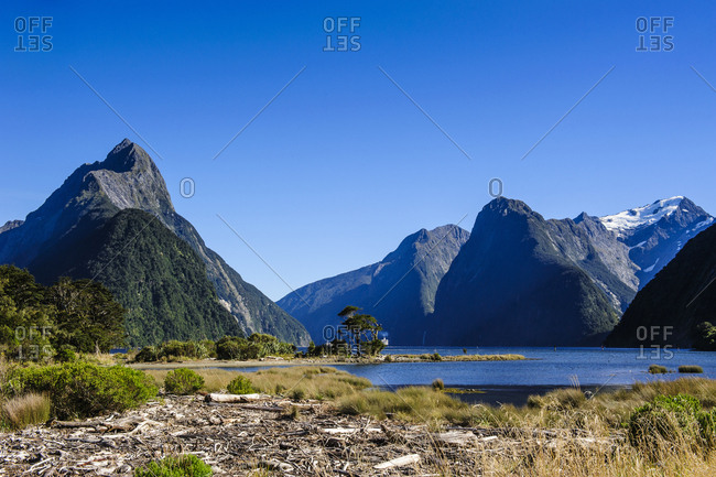The steep cliffs of Milford Sound- South Island- New Zealand