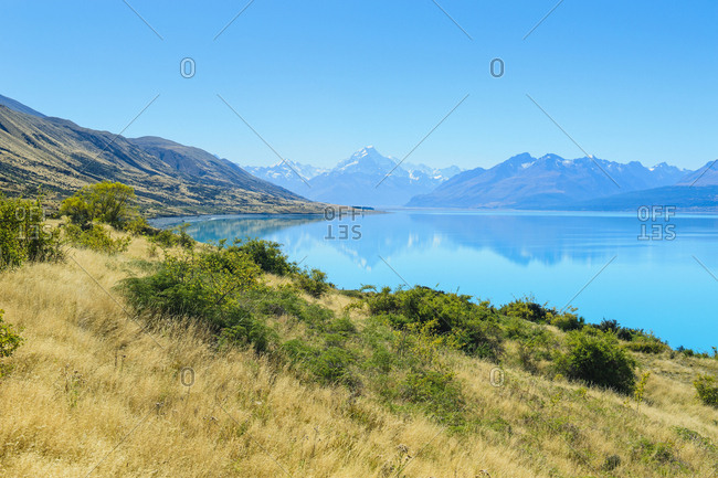 Lake Pukaki- Mount Cook National Park- South Island- New Zealand