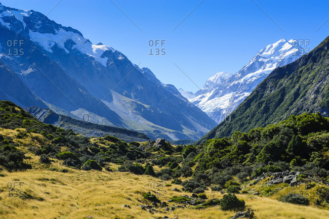 Mount Cook- highest mountain in the Mount Cook National Park- South Island- New Zealand