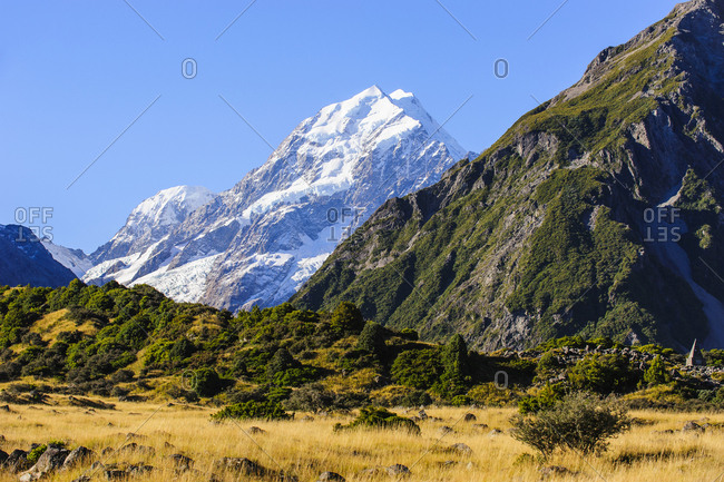 Mount Cook- highest mountain in New Zealand- South Island