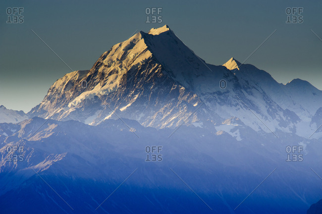 Mount Cook in afternoon light- Mount Cook National Park- South Island- New Zealand