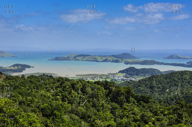 Overlook over the coastline of Northern Coromandel- North Island- New Zealand