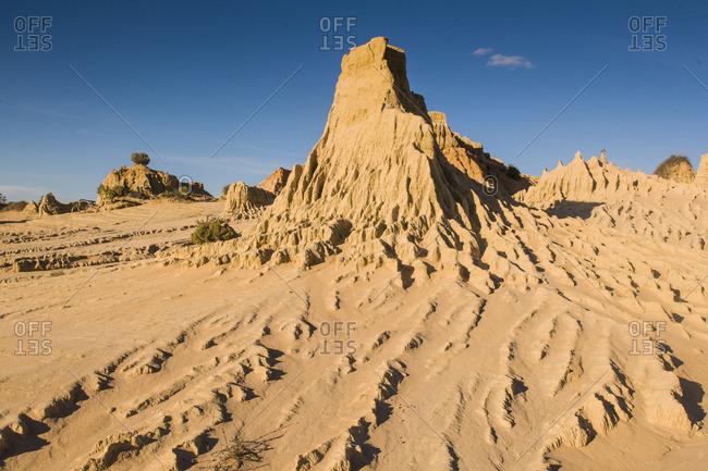 UNESCO World Heritage Mungo National Park- part of the Willandra Lakes Region- Victoria- Australia