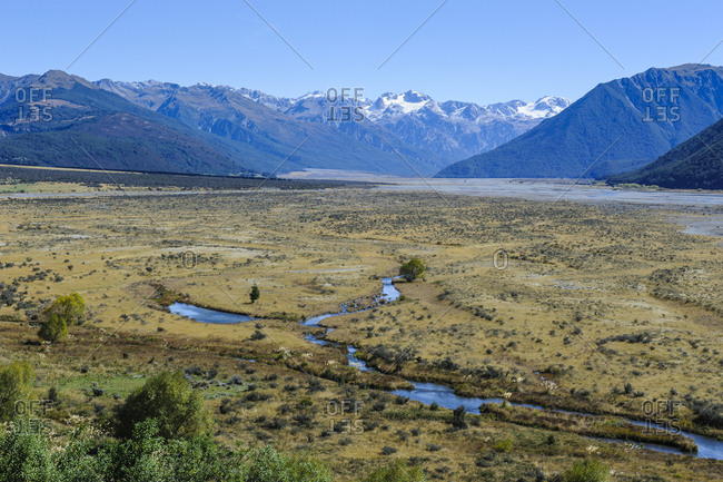 Beautiful mountain scenery around Arthur's Pass- South island- New Zealand