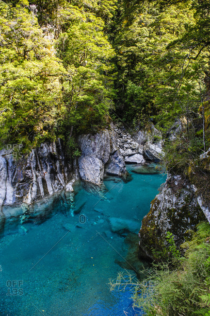 The stunning Blue Pools- Haast Pass- South Island- New Zealand