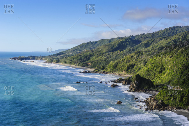 The untouched west coast of the South Island between Greymouth and Westport- New Zealand