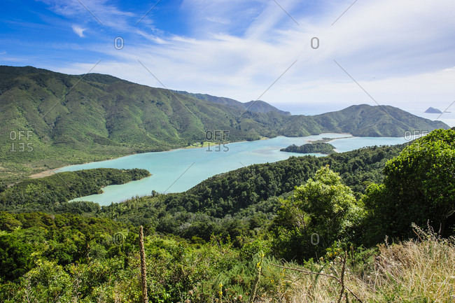 View over the Marlborough Sounds- South Island- New Zealand