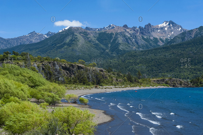 Beautiful mountain lake in the Los Alerces National Park- Chubut- Argentina- South America