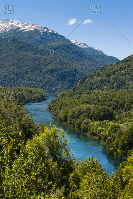 River flowing through the Los Alerces National Park- Chubut- Argentina- South America