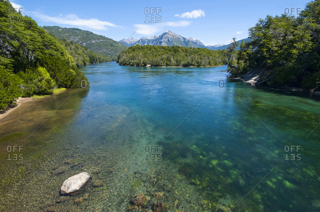 Crystal clear water in the Los Alerces National Park- Chubut- Argentina- South America