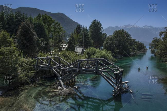 Broken bridge- Road of the Seven Lakes- Argentina- South America