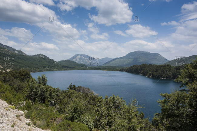Mountain lake- Road of the Seven Lakes- Argentina- South America