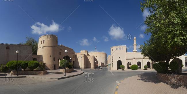 City wall- Goat market and Al Qala'a Mosque- Nizwa- Oman