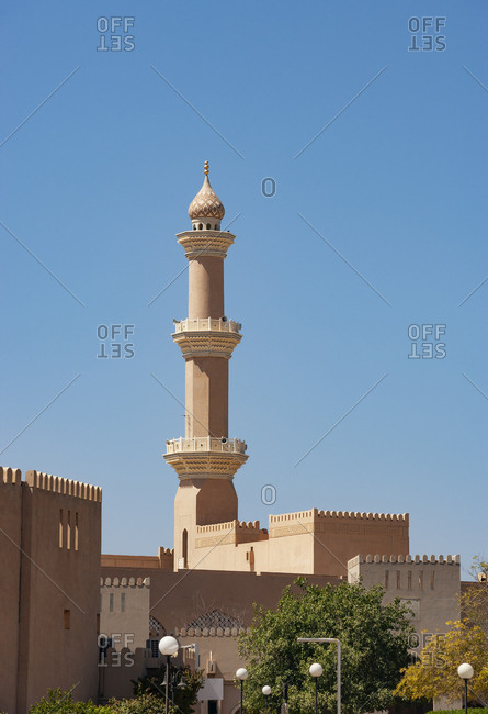 Minarett of Qaboos Mosque- Nizwa- Oman