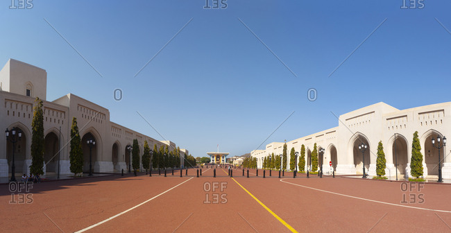 Al Alam Palace- government district- Muscat- Oman
