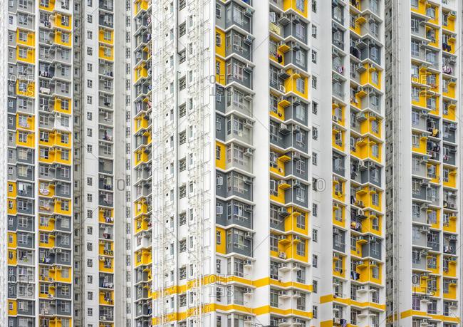 Shek Kip Mei Estate public housing apartment block towers, Shek Kip Mei, Kowloon, Hong Kong, China
