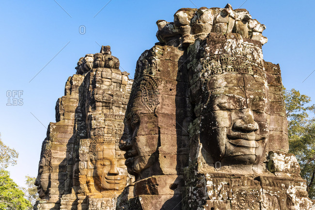 Asia, Cambodia, Siem Reap, UNESCO World Heritage, Angkor Thom, Bayon, Khmer architecture