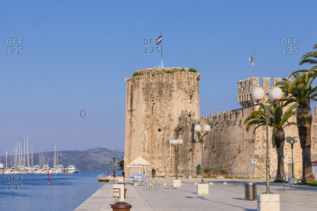 Croatia - June 6, 2019: Kamerlengo Fortress, Trogir Harbor, Trogir, Dalmatian Coast, Croatia, Europe