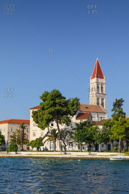Croatia - June 6, 2019: The Cathedral of St. Lawrence, Trogir, Dalmatian Coast, Croatia, Europe