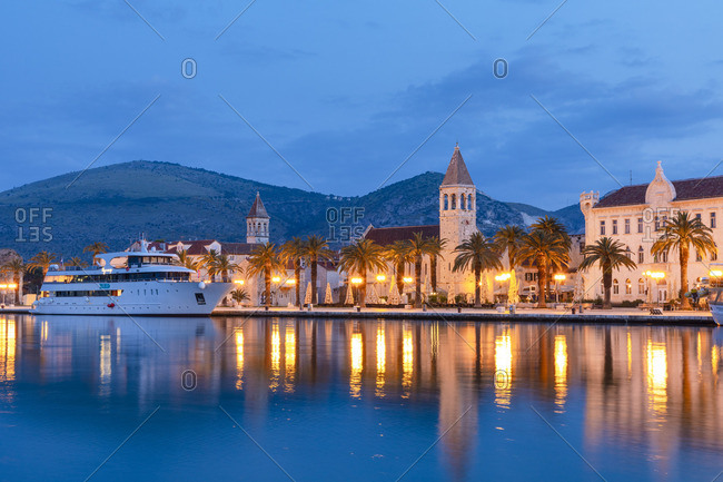 Croatia - June 6, 2019: Trogir Harbor, Trogir, Dalmatian Coast, Croatia, Europe