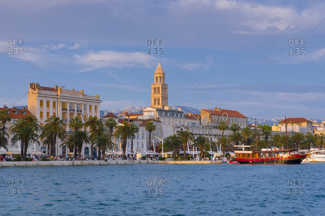 Croatia - June 6, 2019: Split Harbor, Split, Dalmatian Coast, Croatia, Europe