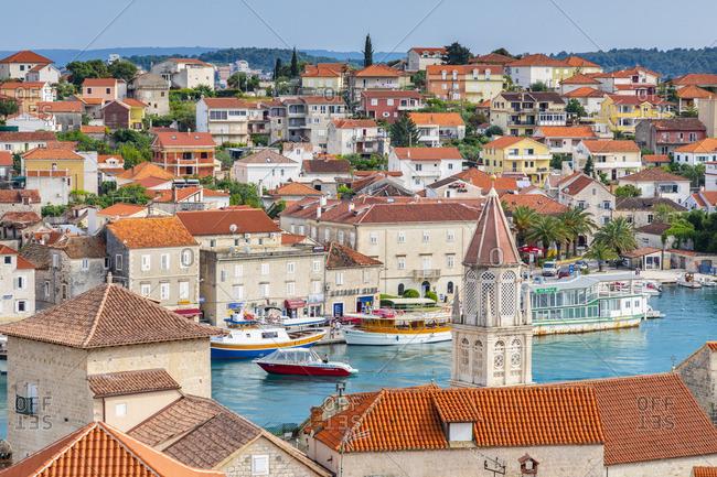 Croatia - June 5, 2019: Elevated View Over Trogir, Trogir, Dalmatian Coast, Croatia, Europe